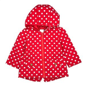 GYMBOREE | Hooded Polka Dot Twill Utility Jacket